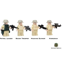 LEGO US Army Rangers Recon Patrol 4 Minifigs pack front