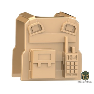 Custom-LEGO-Minifigure-Army-Body-Armor-Vest-Tactical-SWAT-PMC-Military-Contractor-radio-dark-tan-back
