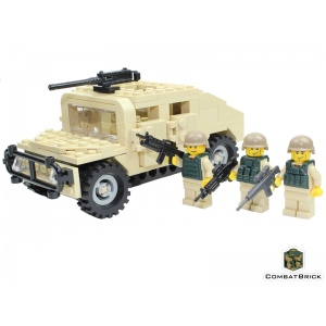 Humvee w MG and patrol 1