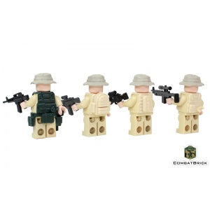 LEGO US Army Rangers Recon Patrol 4 Minifigs pack back