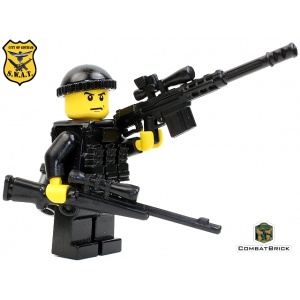 Custom LEGO Army Military Builder Toy Minifigure SWAT  Sniper Officer