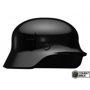 Custom LEGO Minifigure compatible WWII German Soldier Helmet Heer Stahlhelm Black