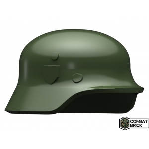 Custom LEGO Minifigure compatible WWII German Soldier Helmet Heer Stahlhelm Green